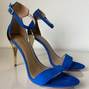 Zara royal blue open toe stiletto